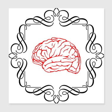 Brain In A Frame - Poster 8x8