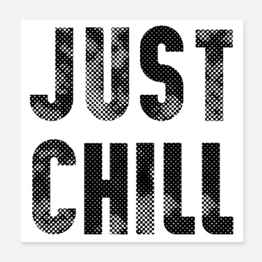 Typo Collection just chill - Poster
