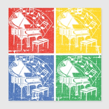 Piano Pop-art - Poster 8x8