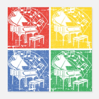 Piano Piano Pop-art - Poster