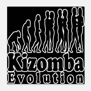 Evolution Kizomba Evolution Black With White Outline Poster - Poster