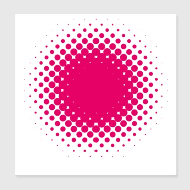 pink heart - Poster 8x8