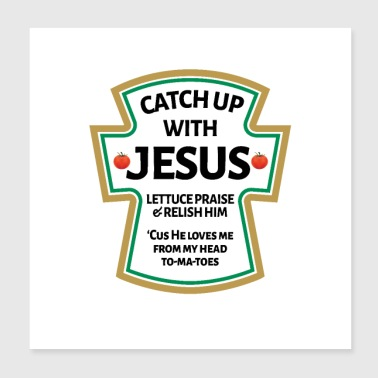 catch up with Jesus,Christian Bible - Poster 8x8