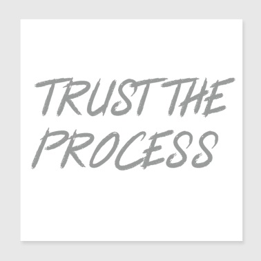 Trust The Process Workout Motivational Design - Poster 8x8