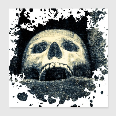 Laughing Skull - Poster 8x8