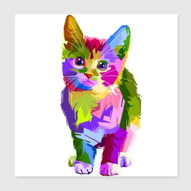Colorful Kitten - Poster 8x8
