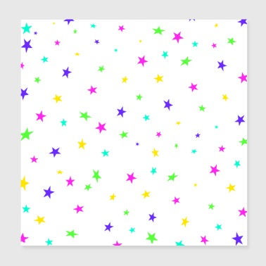 Colorful stars - Poster 8x8