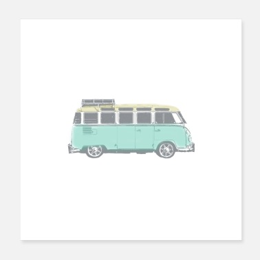 Movement Hippie Van - Poster