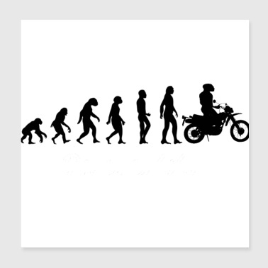 Evolution motorcycle - Poster 8x8