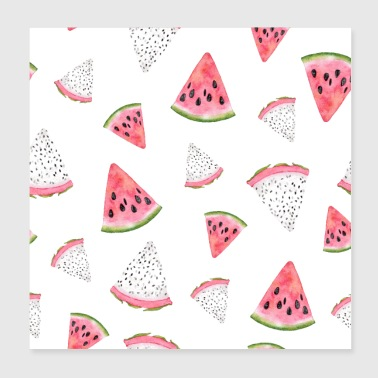 Dragon fruit Pitaya Pitahaya Watermelon Fruit - Poster 8x8
