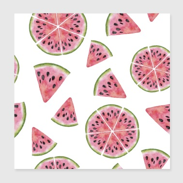 Watermelon Fruit Shirt - Poster 8x8