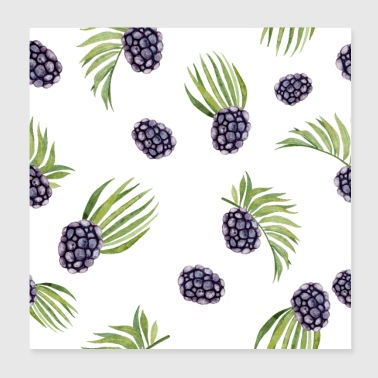 Blackberry Fruit - Poster 8x8