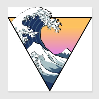 Great Wave Aesthetic - Poster 8x8