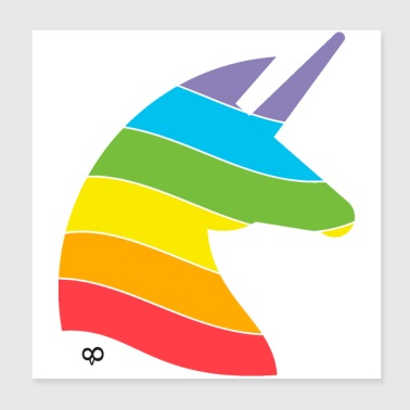 Rainbow Unicorn - Poster 8x8