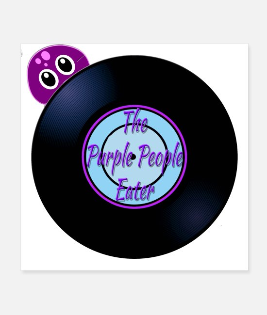Flying Posters - Purple People Eater Oldies Song Titles - Posters white