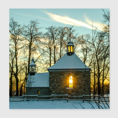 little chapel during sunset Poster - Poster 8x8
