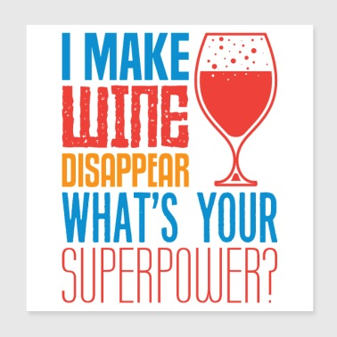 wine disappear - Poster 8x8