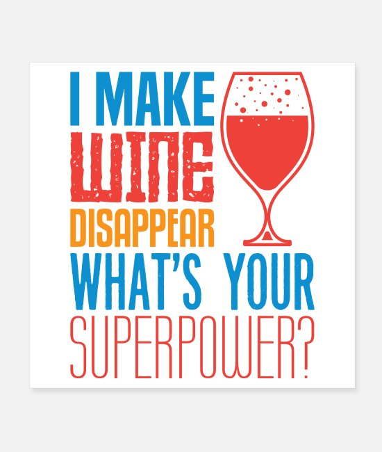 Red Posters - wine disappear - Posters white