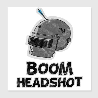Boom Headshot Pubg used look - Poster 8x8
