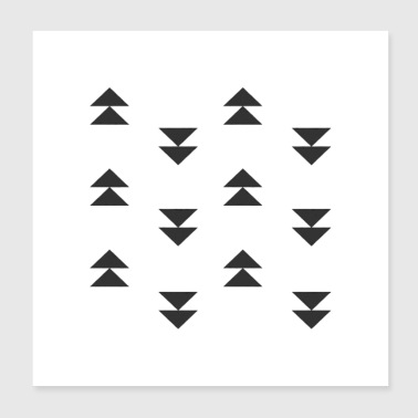 triangles mud cloth - Poster 8x8