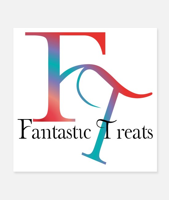 "Lunch Posters - Fantastic Treats ""Drinks-Snacks-Candies-Fruit"" - Posters white"