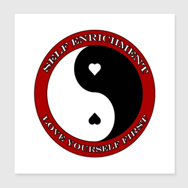 Self Enrichment Yin Yang Adult - Poster 8x8