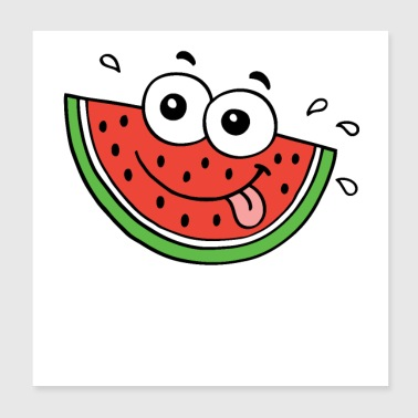 Hot summer food water melon - Poster 8x8