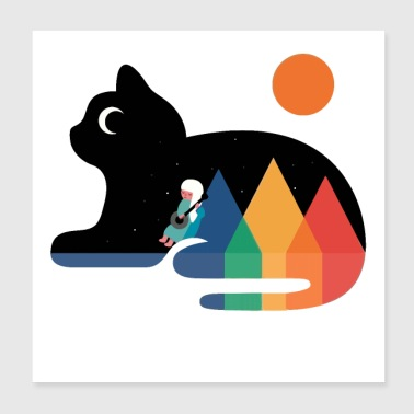 Baby With cat - Poster 8x8