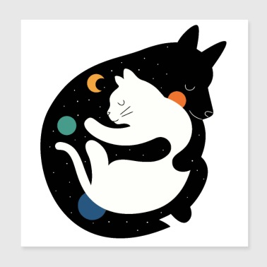 Cat with wolf - Poster 8x8