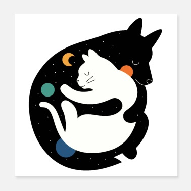 Collection For Kids Cat with wolf - Poster 8x8