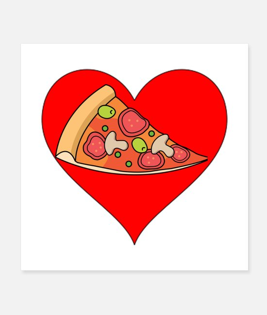 Heart Posters - I love Pizza - Posters white