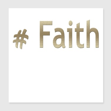 Hashtag Faith Cool Christian Design - Poster 8x8