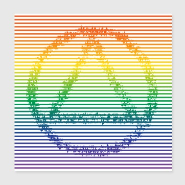 Recovery with Vibrating Line in Rainbow Color - Poster 8x8