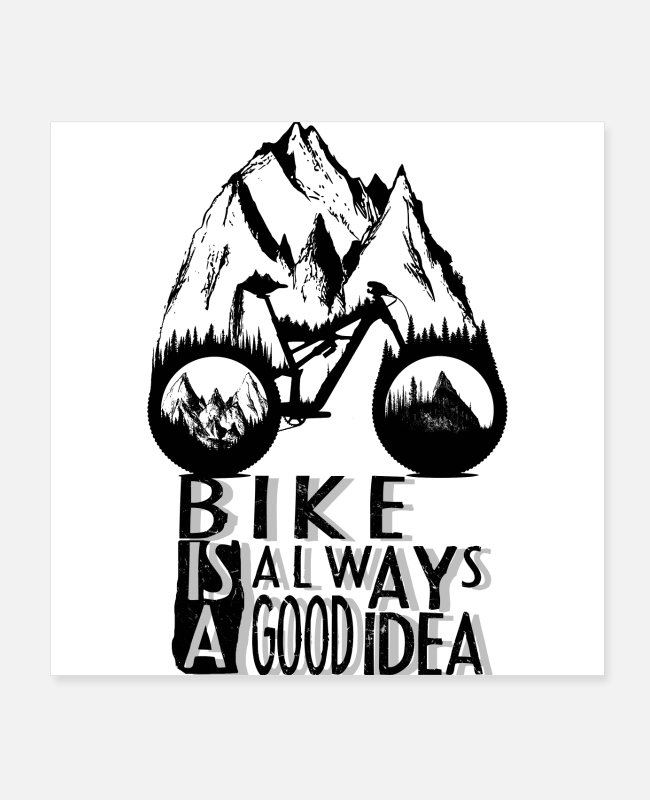 Mountains Posters - Good Idea - Posters white