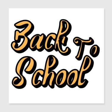 Back to school - Poster 8x8
