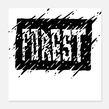Region Forest Ink - Poster