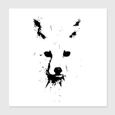 Black Ink Fox - Poster 8x8