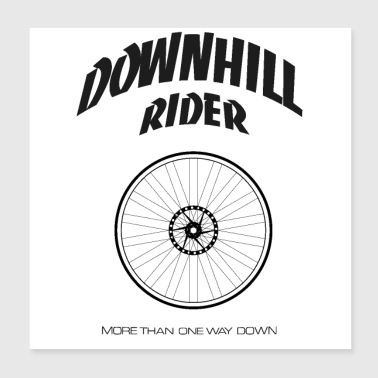 Downhill Rider - Poster 8x8