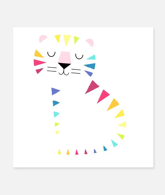 Pierce Posters - Meow - Posters white