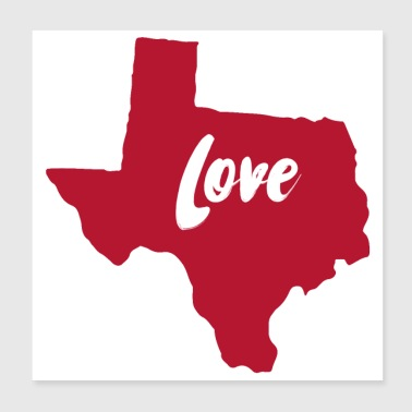 Texas Love - Poster 8x8