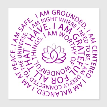 Lotus Yoga I Am Sayings | Motivation | Inspiration - Poster 8x8