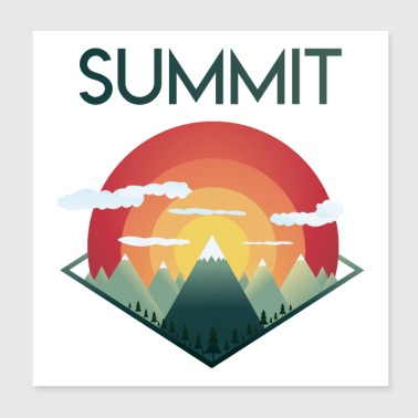 Summit Mountains - Poster 8x8
