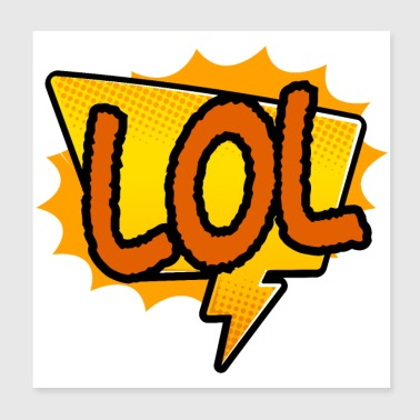 Sticker LOL laugh out loud gift idea - Poster 8x8