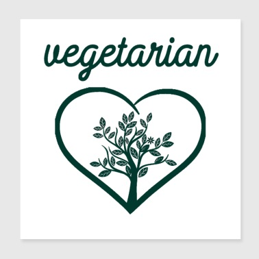Vegan vegetarian animal welfare gift idea - Poster 8x8