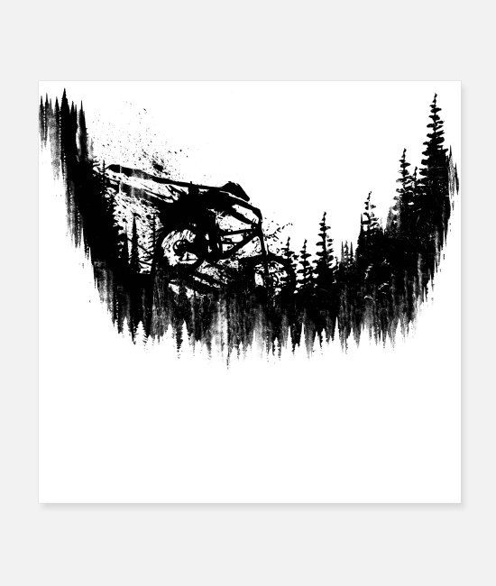 Mountains Posters - Black Drop - Posters white