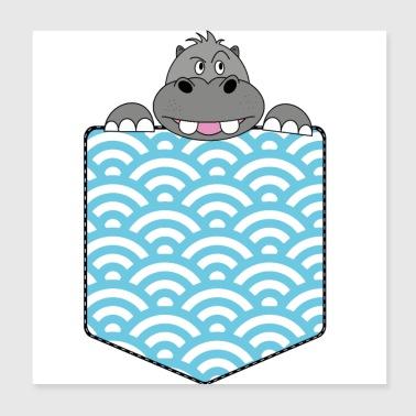 Shop Hippo Wall Art online | Spreadshirt