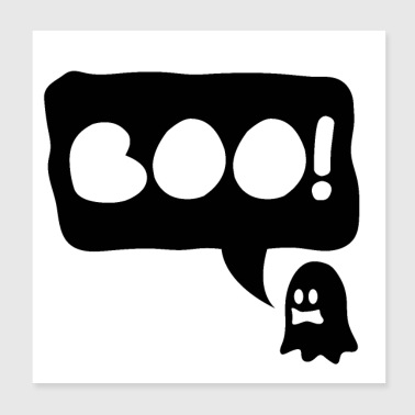 Halloween Ghost Boo - gift idea - Poster 8x8