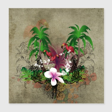 Wonderful tropical design - Poster 8x8