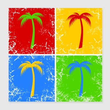 Palm tree holiday summer vacation - Poster 8x8