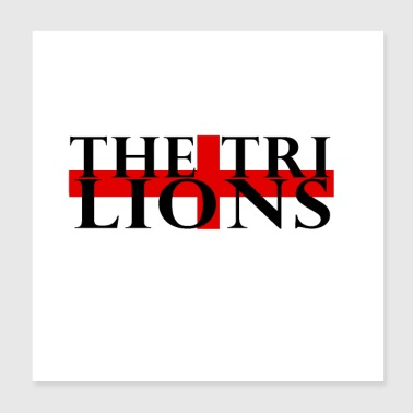 The Three Lions - Poster 8x8
